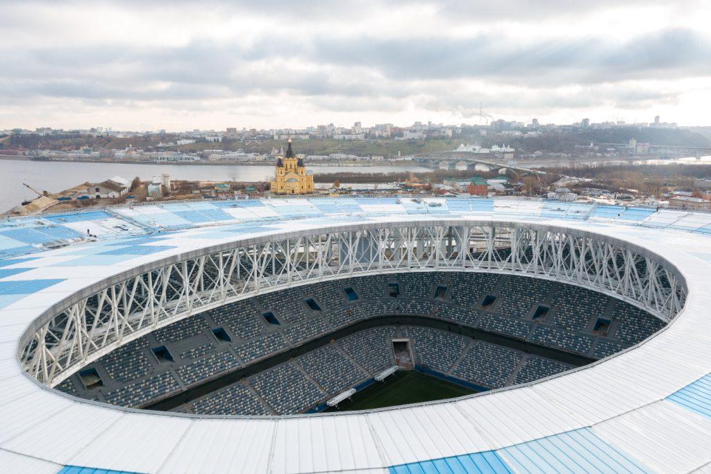 В чаше стадиона «Нижний Новгород» установили систему звукоусиления