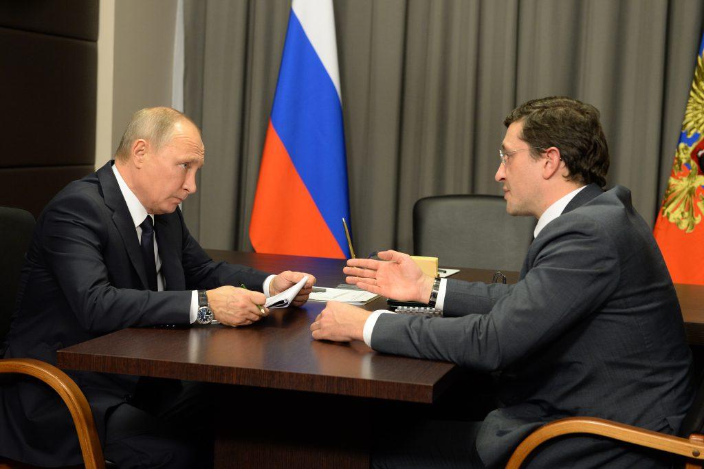 Владимир Путин пообещал Нижегородской области новые перспективы