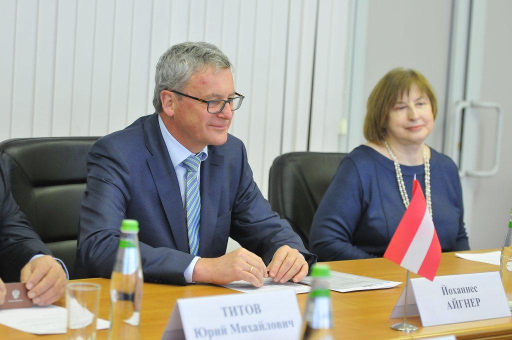 Глеб Никитин встретился с Послом Австрии в России Йоханнесом Айгнером. Как это было