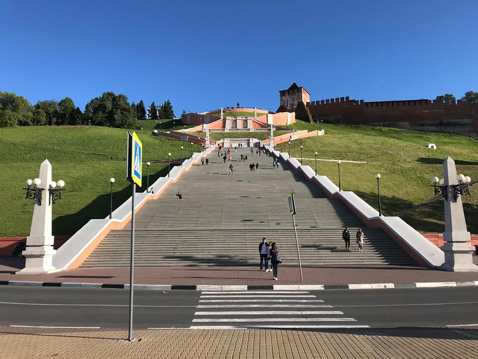 Нижегородцы чаще всего фотографировали Чкаловскую лестницу в период пандемии коронавируса