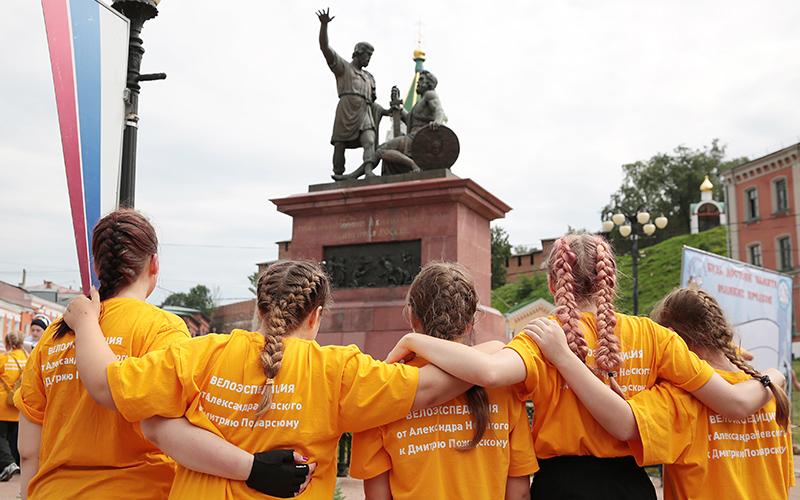 Патриотическая акция «Будь достоин памяти великих предков!» собрала любителей истории в Нижнем Новгороде