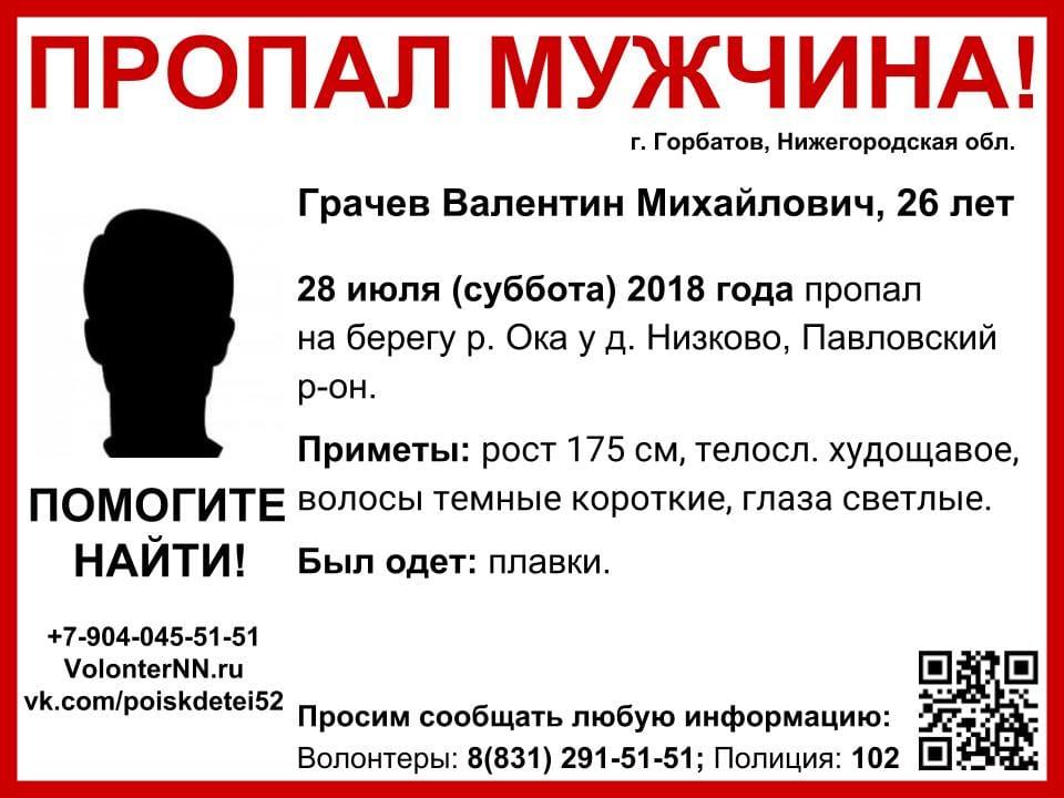 Мужчина в плавках пропал в Нижегородской области