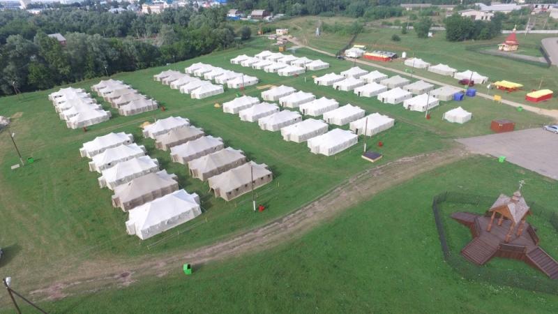 В Дивееве развернули палаточный лагерь для паломников