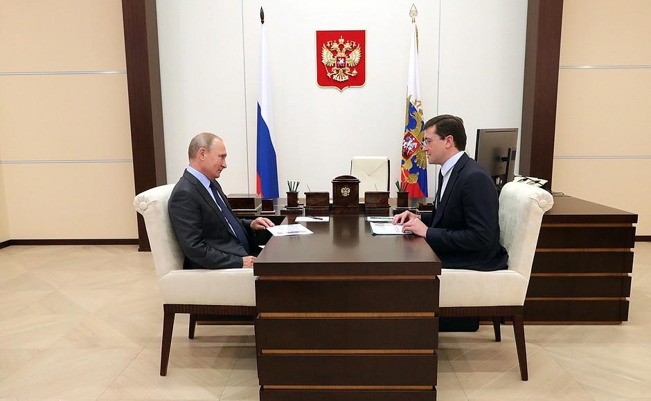 В полный рост. Глеб Никитин и Владимир Путин обсудили приоритеты в развитии региона