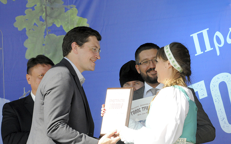 Глеб Никитин вручил награды победителям конкурса «Голос Традиций»