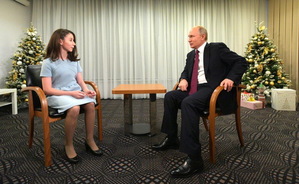 Мечты сбываются. 17-летняя нижегородка взяла интервью у Владимира Путина (видео)