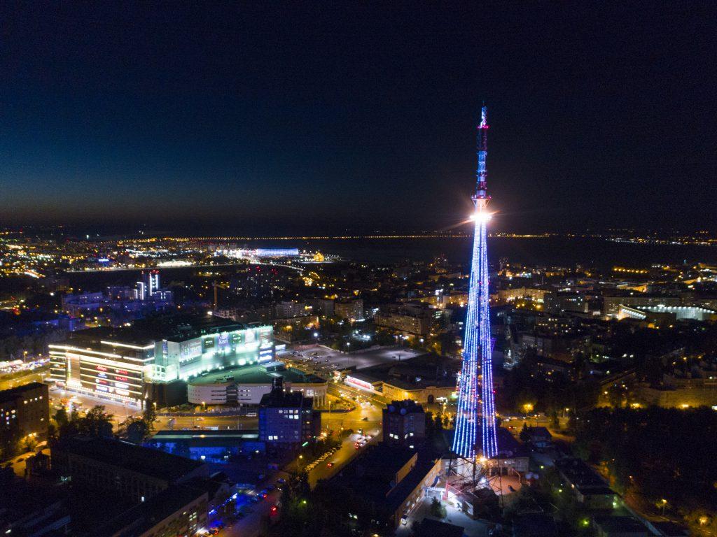 Нижегородская телебашня заиграет праздничными огнями в честь Дня Победы