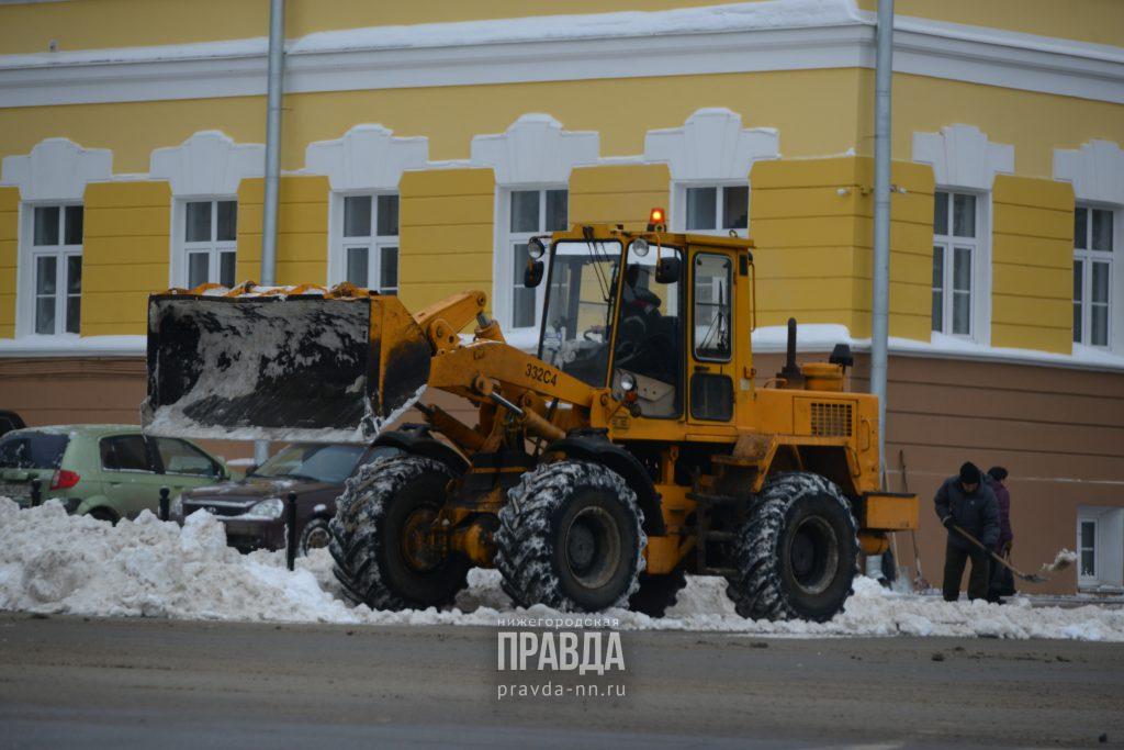 Больше тысячи кубометров снега вывезли с нижегородских дорог за сутки