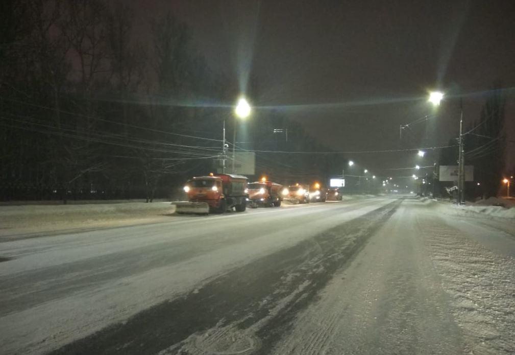 Ночная снегоуборка
