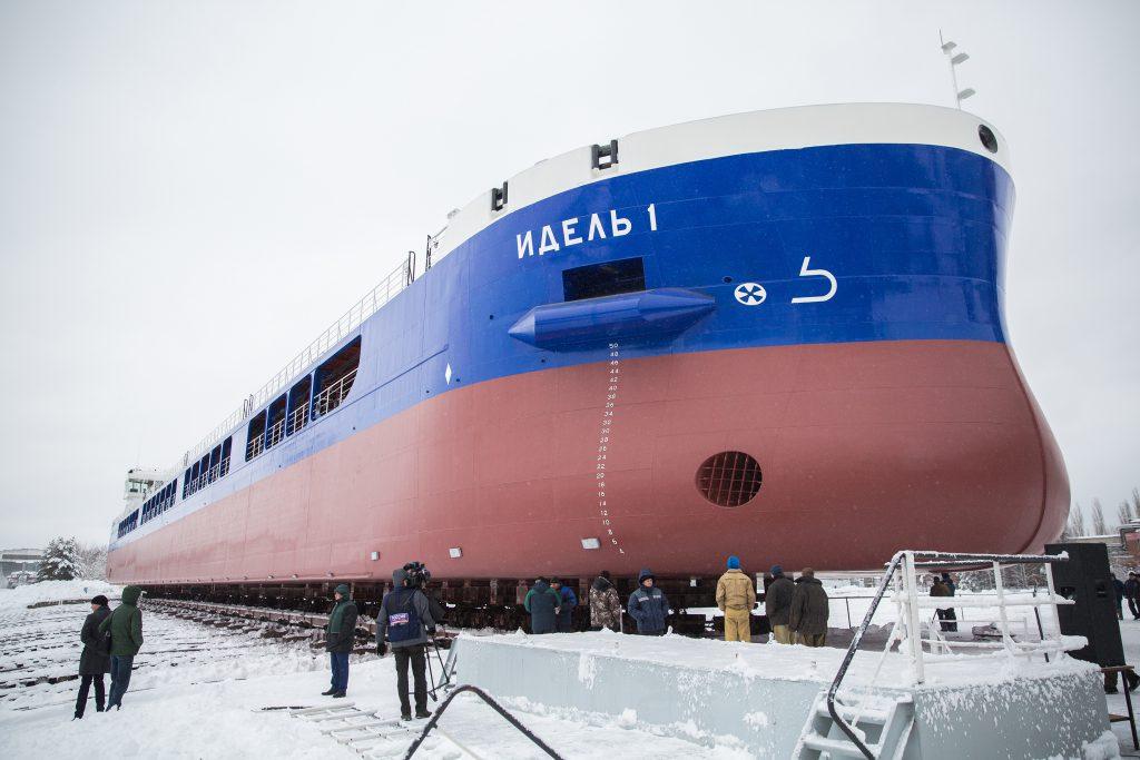 Первое в этом году судно спустили на воду на  заводе «Красное Сормово»