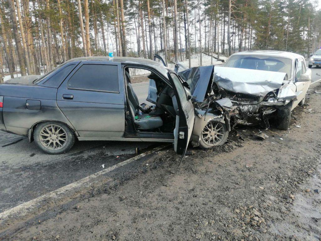 Водитель «Лады» погиб в лобовом ДТП на М-7 под Нижним Новгородом (ВИДЕО)