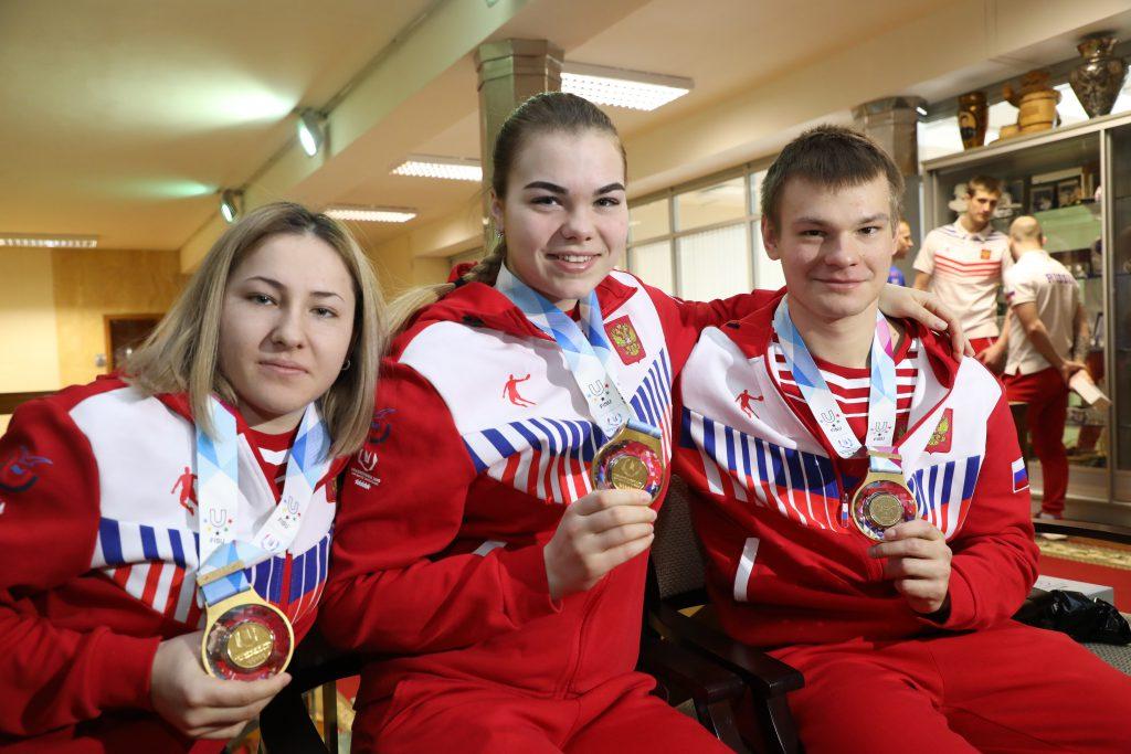 Нижегородских спортсменов, участвующих в Универсиаде, поздравили в Кремле