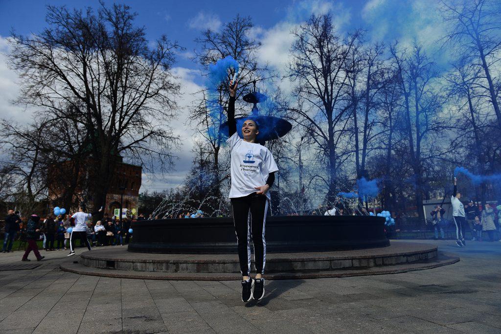 На площади Минина запустили главный городской фонтан