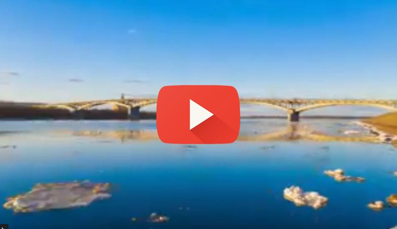Паводок на Волге (Видео: Максим Петров)