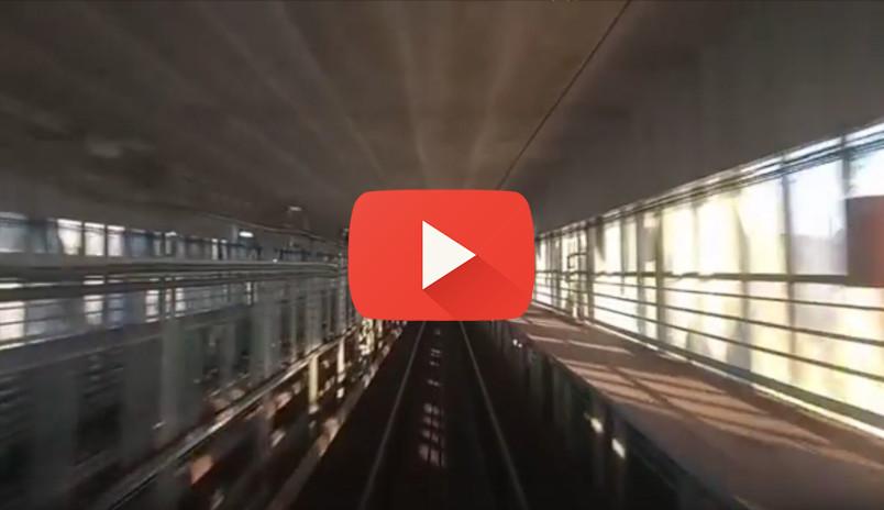 Работник нижегородского метрополитена опубликовал видео из кабины поезда с Метромоста