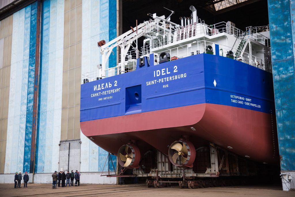 На заводе «Красное Сормово» спустили на воду сухогруз «ИДЕЛЬ 2»