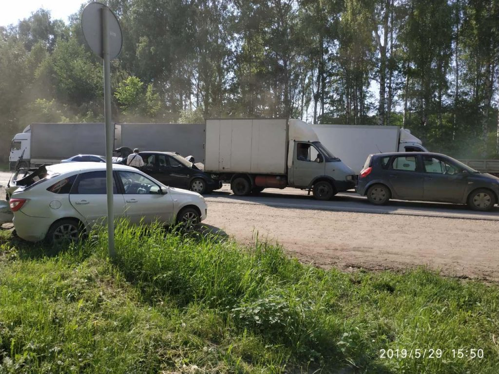 Две женщины пострадали в массовом ДТП в Борском районе (ФОТО)