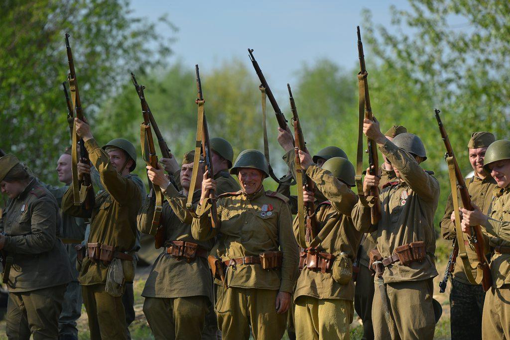 В Нижнем Новгороде реконструировали события 1945 года