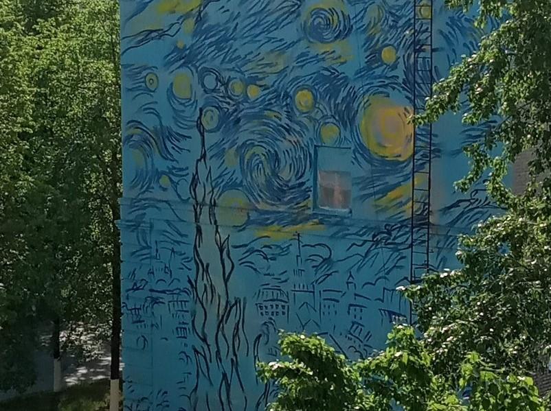 Самая масштабная репродукция «Звездной ночи» Ван Гога появится на жилом доме в Дзержинске