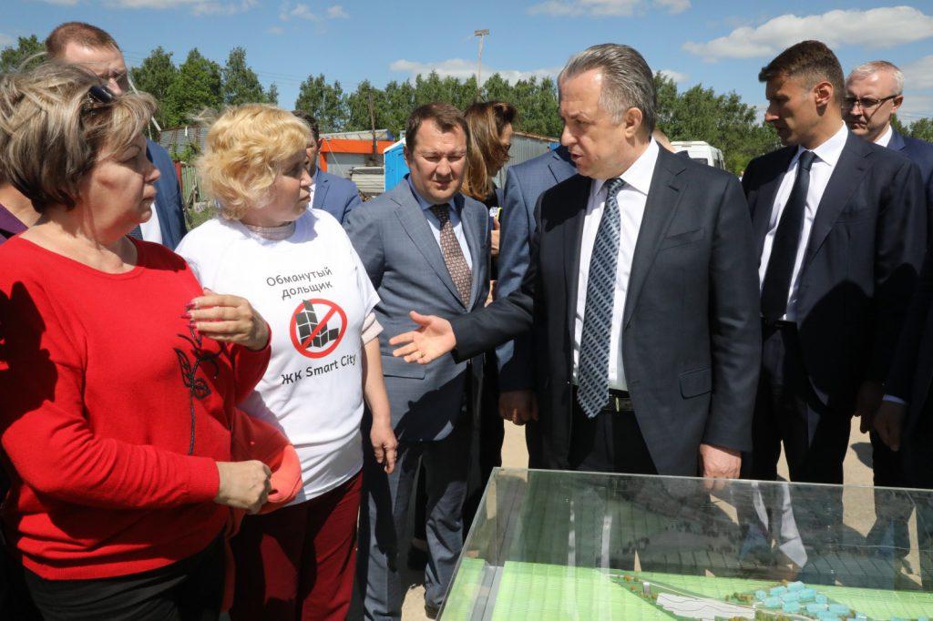 Виталий Мутко иГлеб Никитин встретились спредставителями дольщиковЖК «Новинки Smart City»