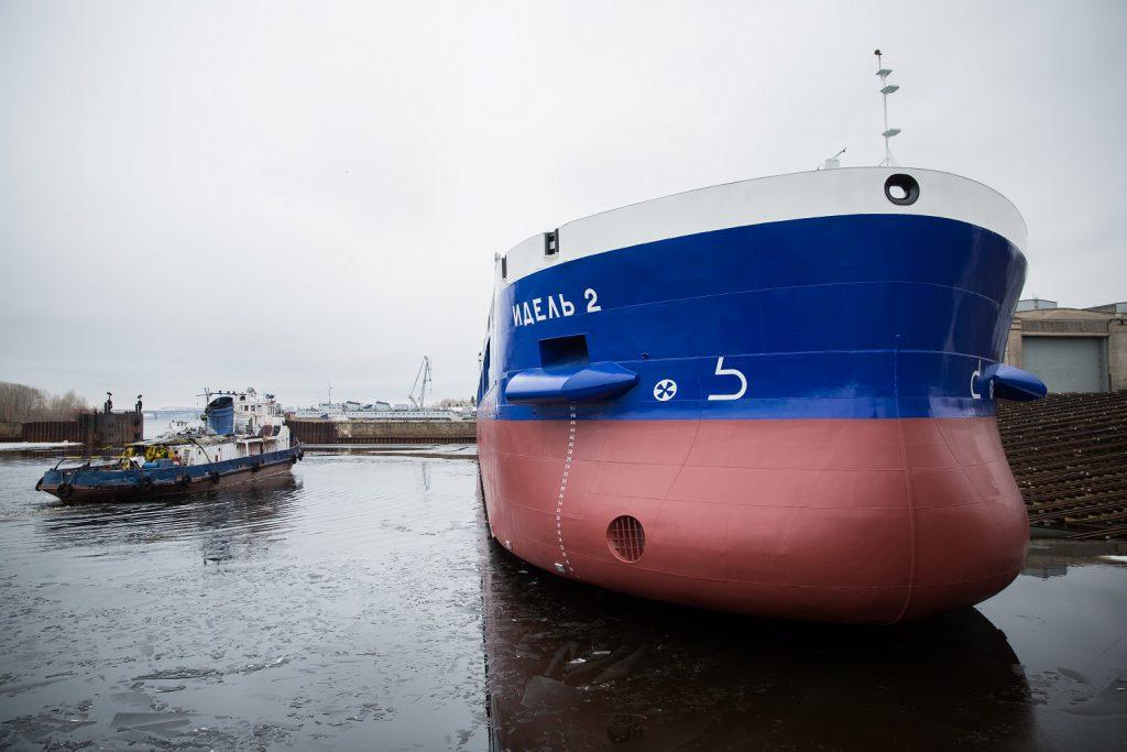 Сухогруз «ИДЕЛЬ 3» спустили на воду в Нижнем Новгороде