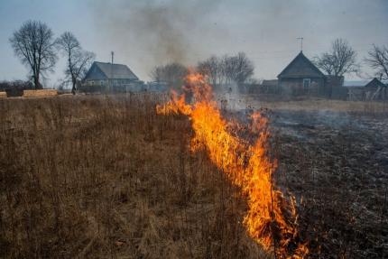 10 случаев загорания сухой травы зафиксировали сотрудники МЧС на территории Нижегородской области за прошедшие сутки
