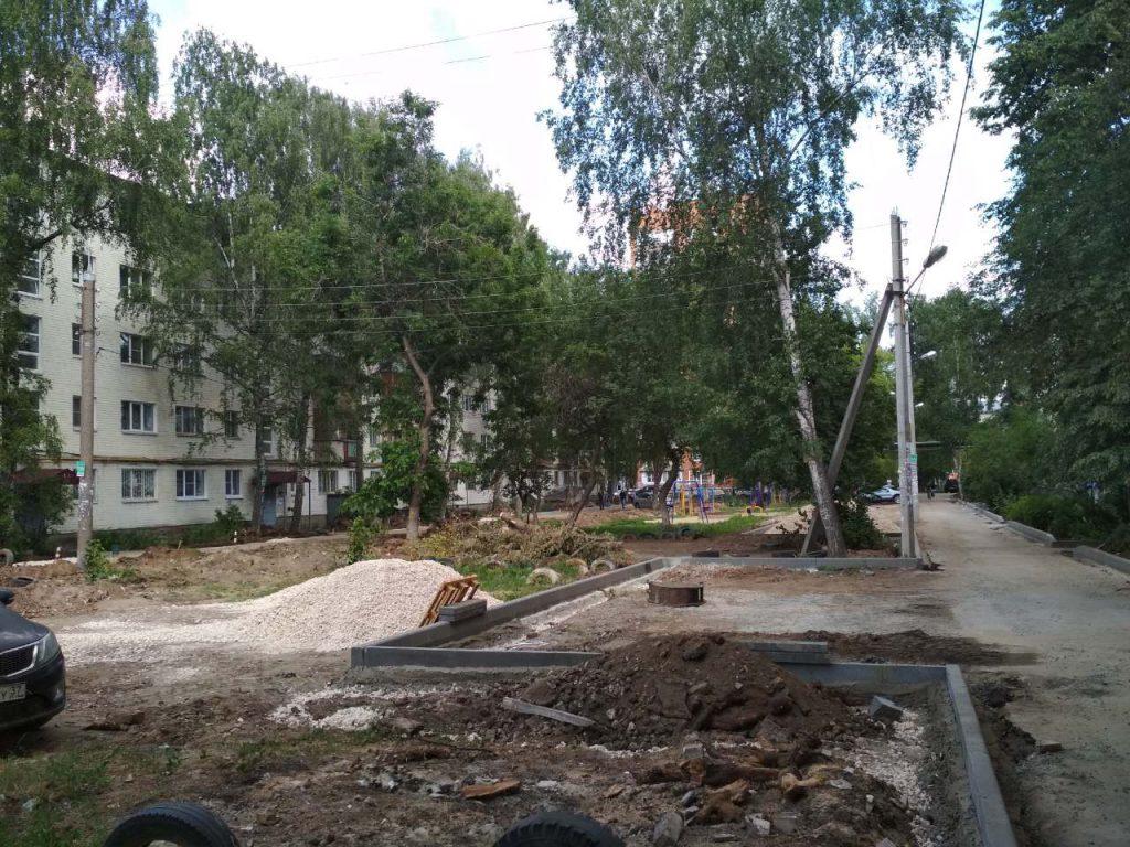 В Канавинском сквере начали строительство спортивной велосипедной трассы