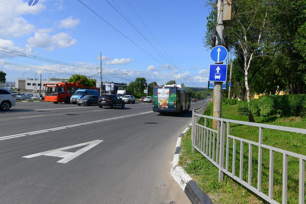 Выделенная полоса на проспекте Гагарина будет работать только по будням