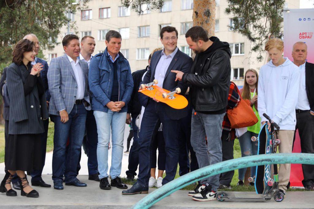 Глеб Никитин: «В2019 году врегионе планируется создать шесть скейт-парков»