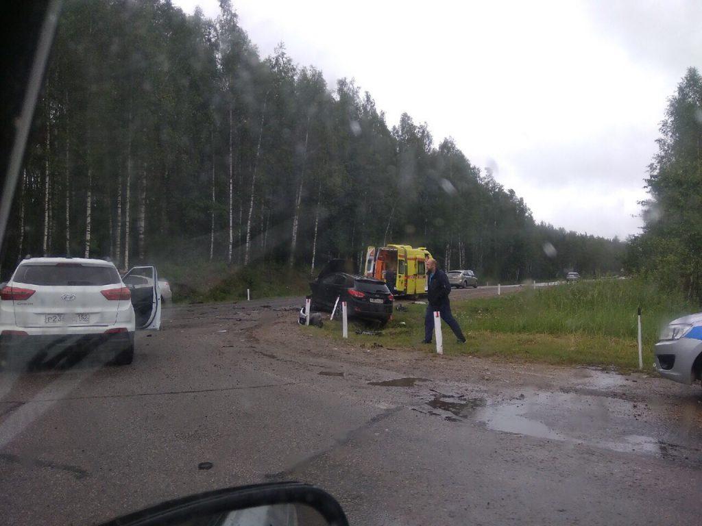 Три иномарки столкнулись на трассе в Арзамасском районе