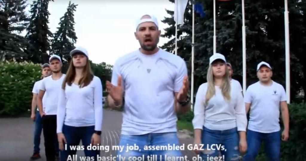 Работники Горьковского автозавода прочитали рэп против американских санкций (ВИДЕО)