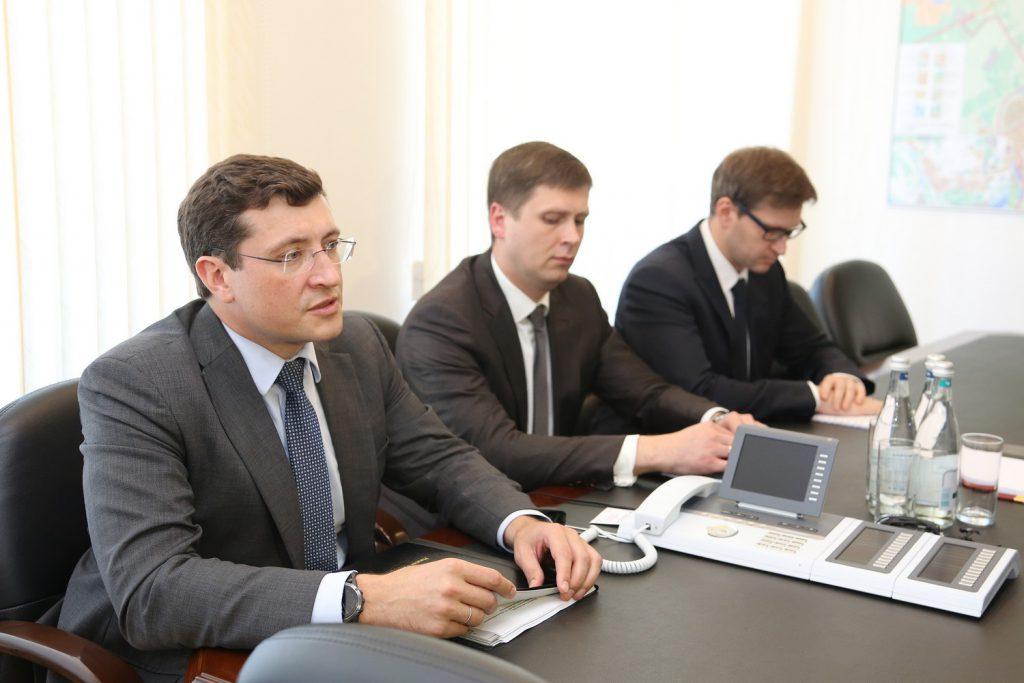 Глеб Никитин игендиректор «Центра Келдыша» Владимир Кошлаков обсудили сотрудничество врамках нацпроектов
