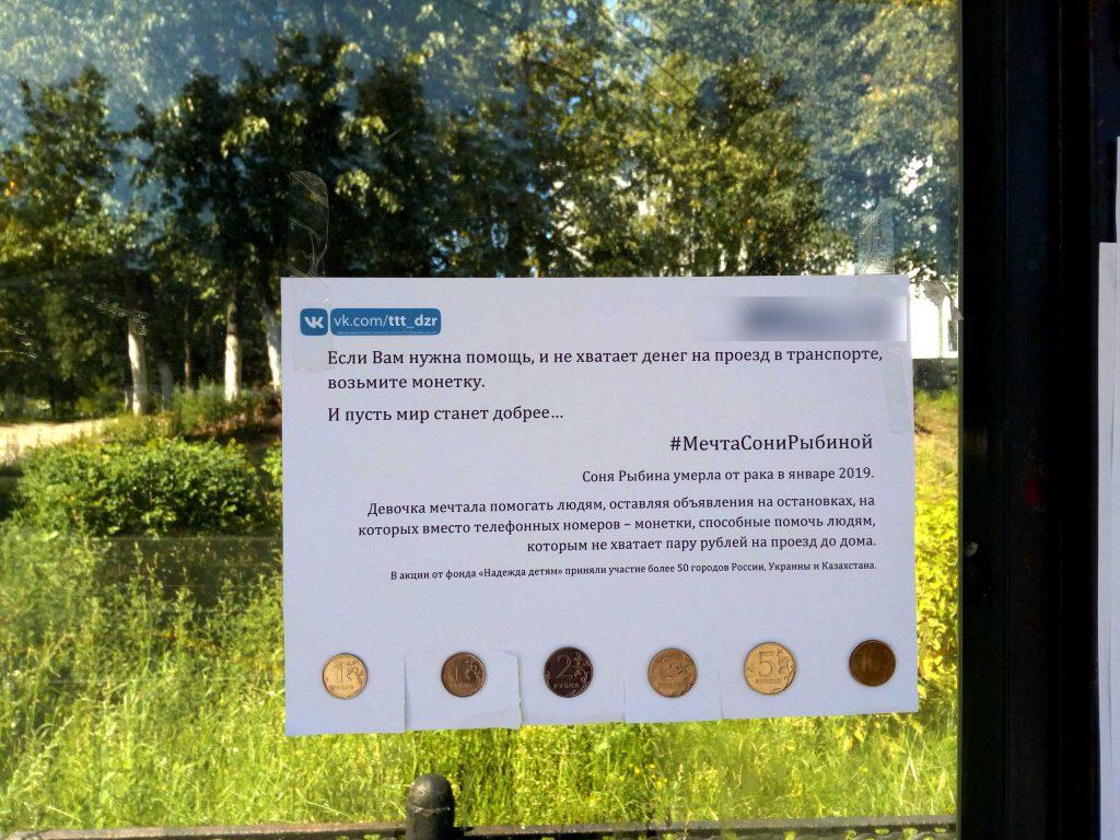 Фото дня. Дзержинск присоединился к флешмобу #МечтаСониРыбиной