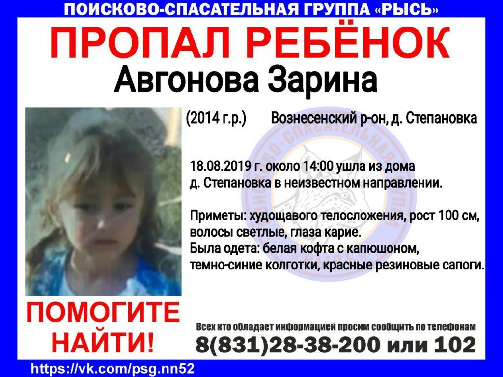 Следственный комитет возбудил уголовное дело об исчезновении 5-летней Зарины Авгоновой