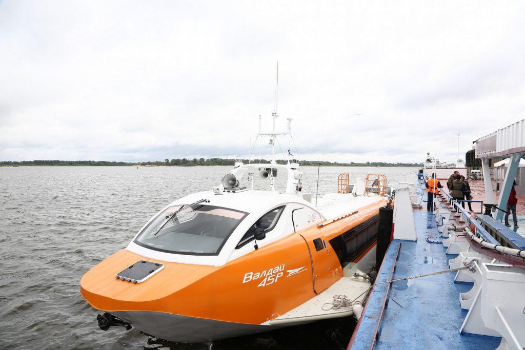 Глеб Никитин дал старт навигации судов наподводных крыльях «Валдай 45Р» вНижегородской области