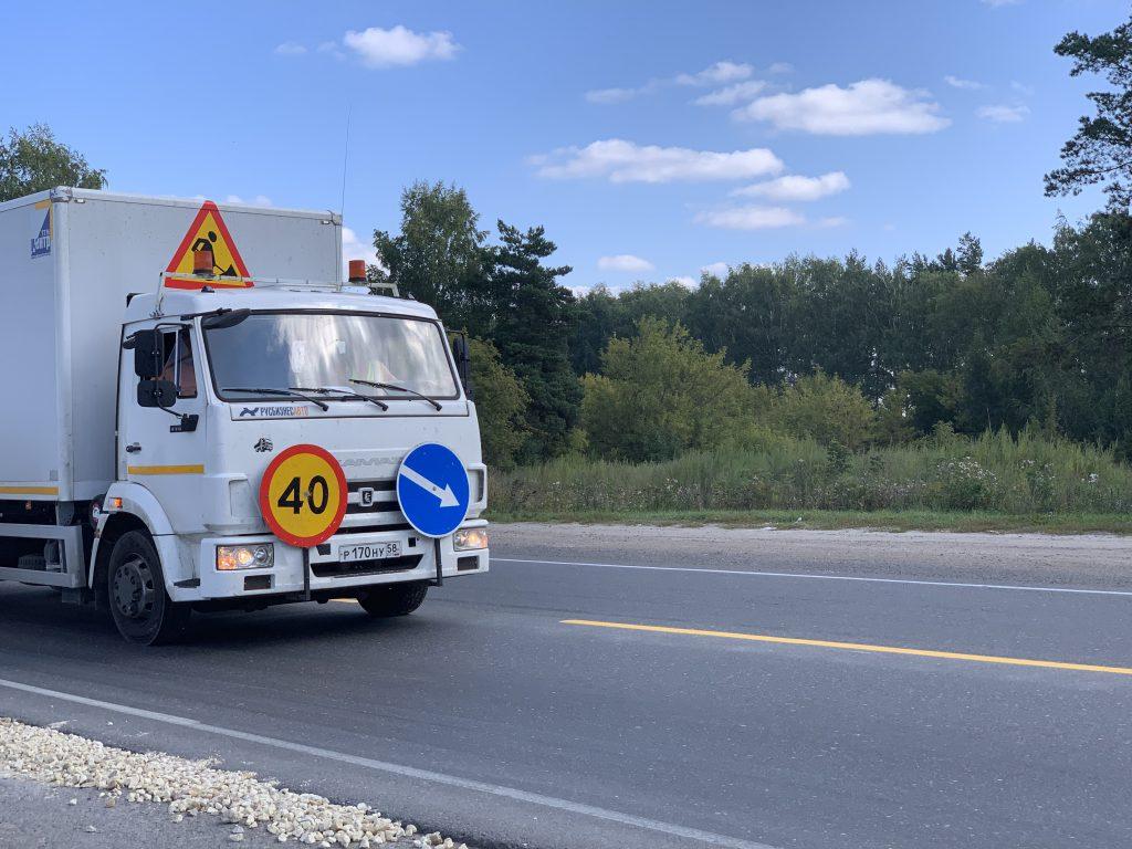 Желтую осевую разметку нанесут на самых аварийных участках трасс в Нижегородской области