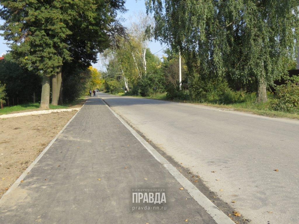 В поселке Новое Доскино появился долгожданный тротуар