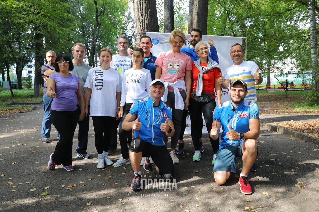 Известный нижегородский тренер Павел Гудовский научил журналистов бегать