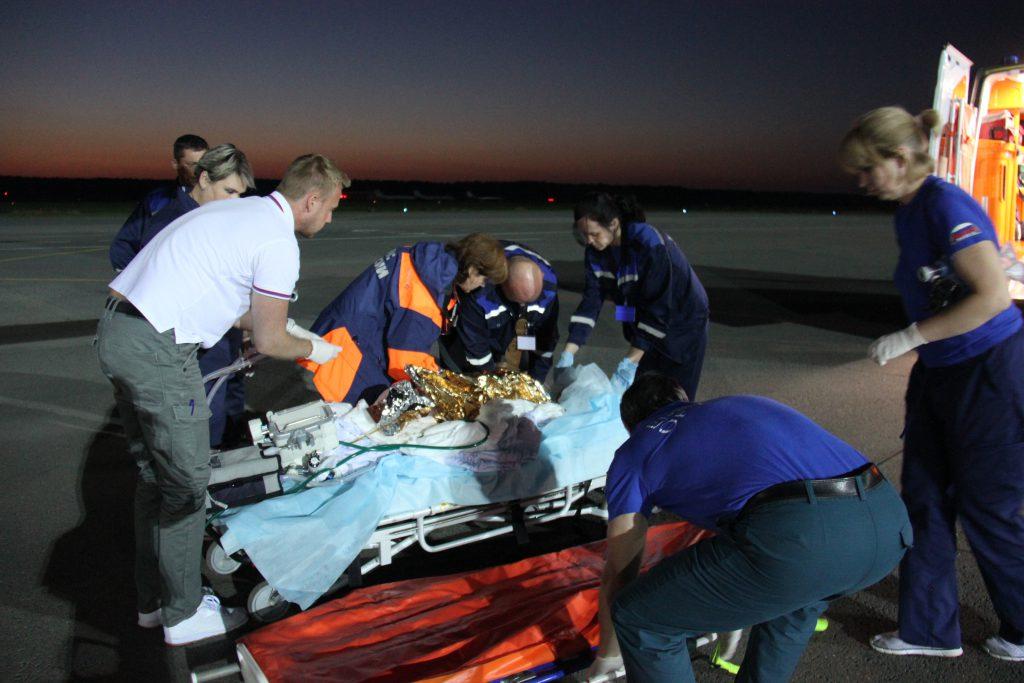 6-летнего ребенка с ожогами 90% тела доставил спецборт МЧС на лечение в Нижний Новгород из Карелии