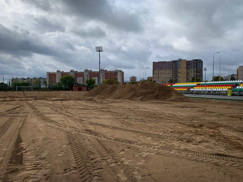 Натренировочной площадке ФОКа «Мещерский» начались работы позамене натурального покрытия футбольного поля наискусственное