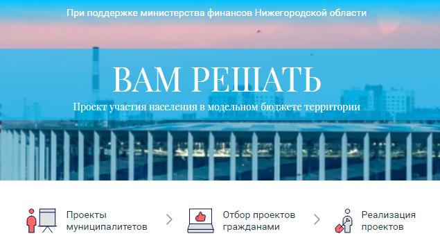 Голосование нижегородцев запредложения МСУ врамках проекта «Вам решать» завершится 15сентября