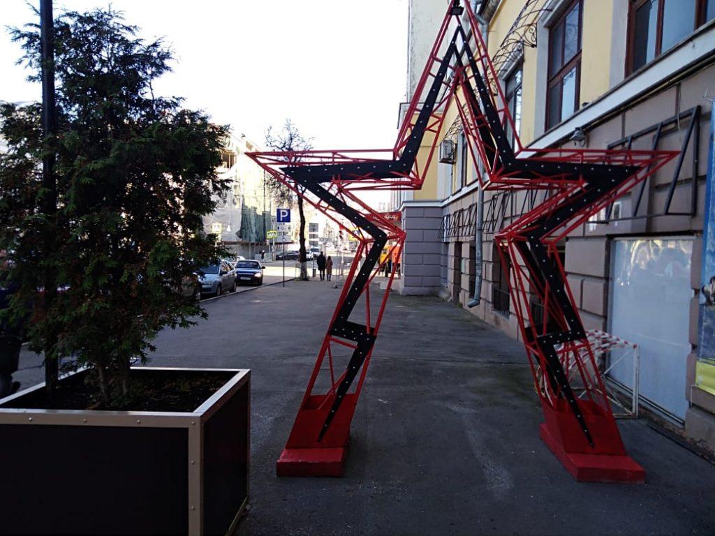 Фото дня: «звездный» арт-объект установили в центре Нижнего Новгорода