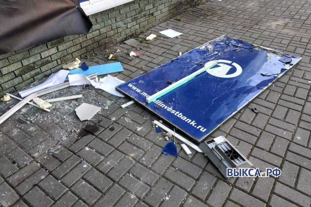 «Я аж проснулся, хлопнуло знатно»: в Выксе взорвали банкомат