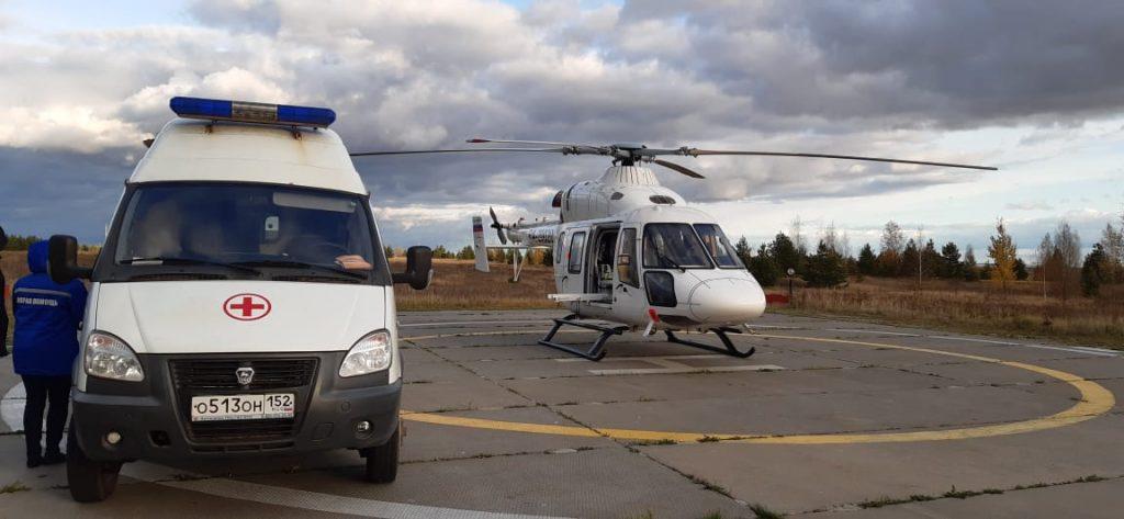 Мужчину с острым коронарным синдромом доставили на вертолете санавиации в больницу им. Семашко