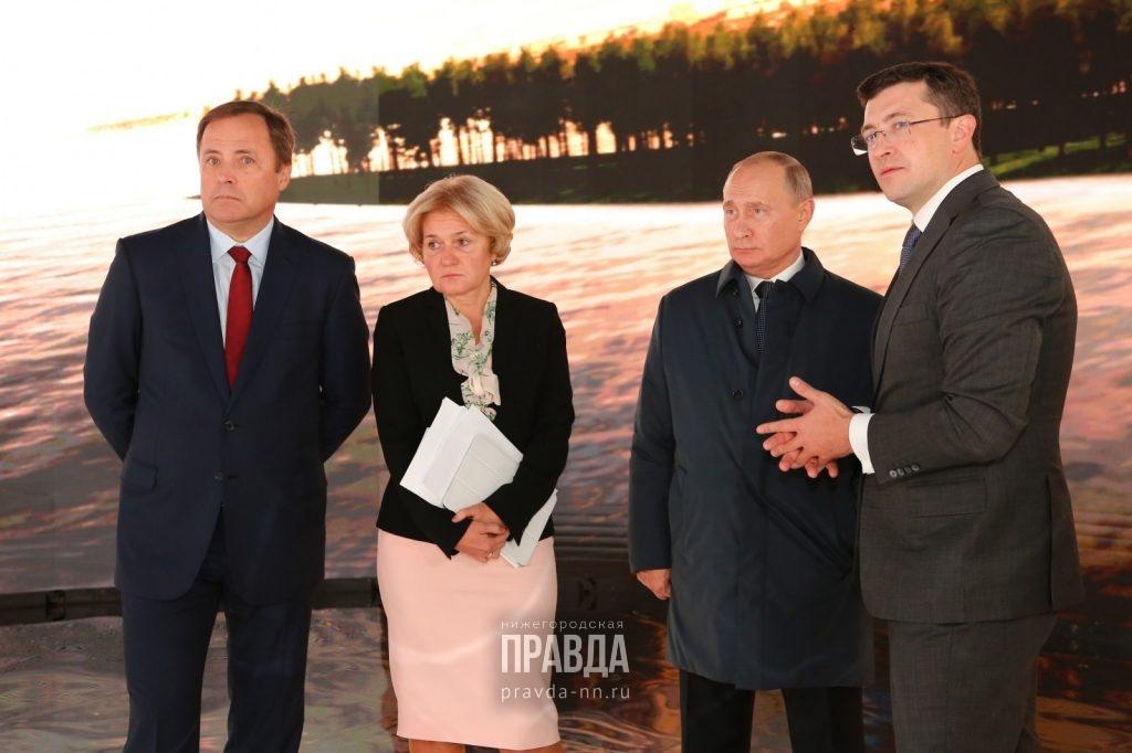Глеб Никитин представил Владимиру Путину концепцию создания наСтрелке культурно-образовательного центра