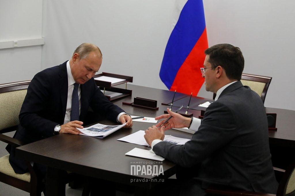 Глеб Никитин представил Владимиру Путину проект строительства онкоцентра врегионе