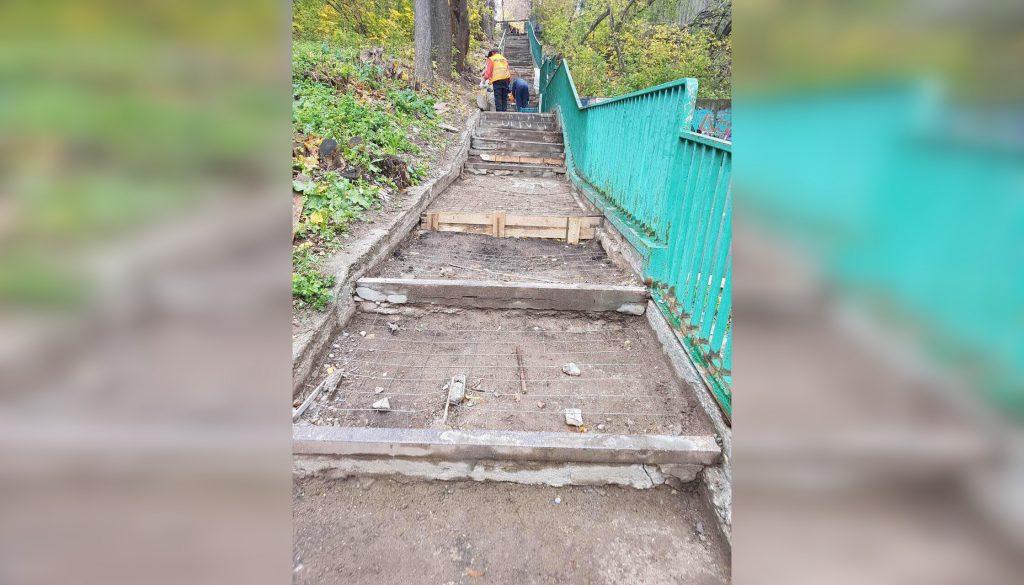 Лестницу на улице Трудовой приведут в порядок по просьбе жителей до конца года