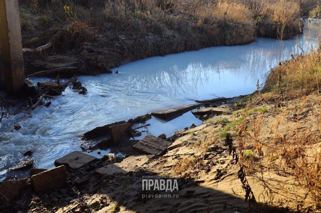 Река Рахма в Кстовском районе снова побелела