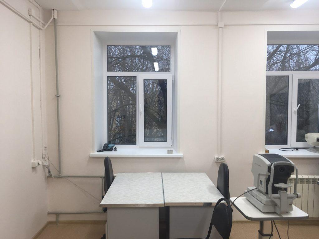 Вполиклинике №50 Приокского района врамках нацпроекта «Здравоохранение» идут ремонтные работы