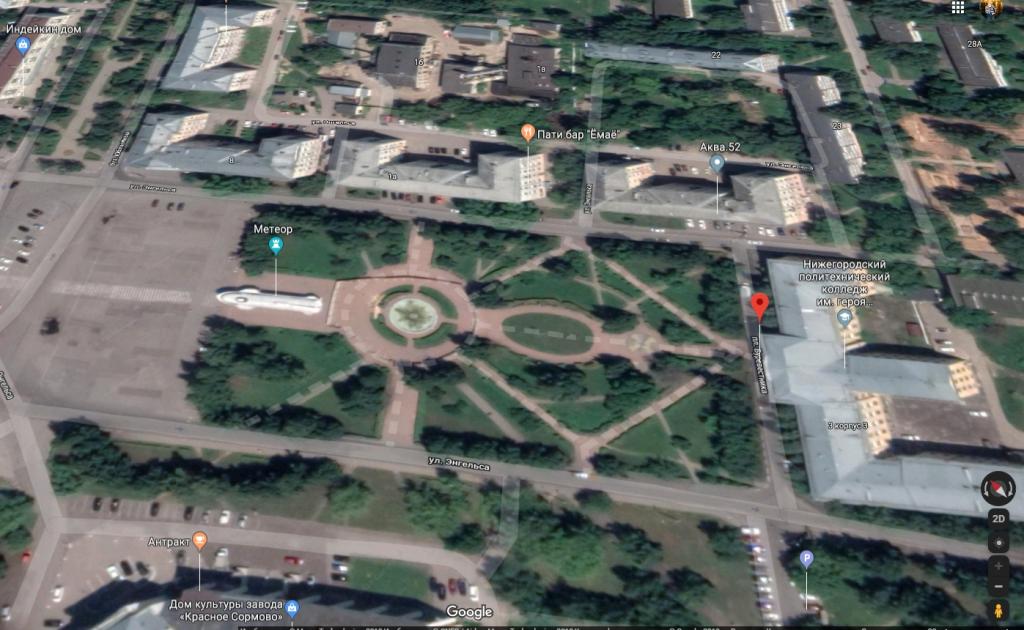 На площади Буревестника вводится круговое одностороннее движение